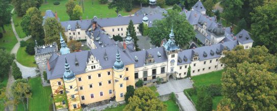 Kliczkow Castle Poland with black beaver roof tile